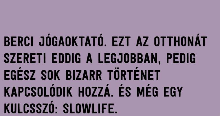 Bercinél Széchenyihegyen